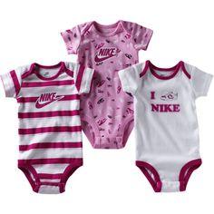 Nike Infant Girls' Three-Pack Onesies - Polyvore
