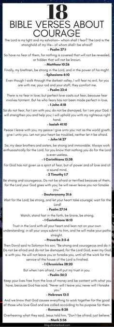 Here are some favorite Bible verses to turn to when you need strength and courage. #everythingchristian