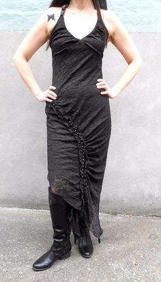 LIP SERVICE Lady Red Light long halterneck dress #85-40