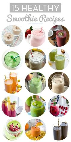 15 Healthy Smoothie Recipes #healthy #smoothies