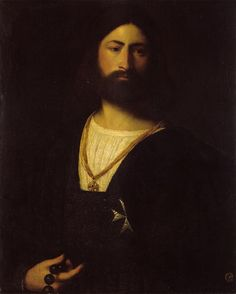 Giorgione - A Knight of Malta. Pinner says: My favorite portrait of all time.