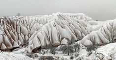 Kışı özleyenler parmak kaldırsın  #roxcappadocia #cappadocia #uçhisar #kapadokya #winter #snow #fairychimneys