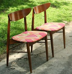 I lust for something like these for the dining table. #kitchen #chairs #midcenturymodern