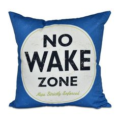 Found it at Wayfair - Nap Zone Outdoor Throw Pillow