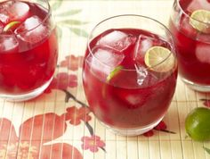 Hibiscus Tequila Cooler Recipe.