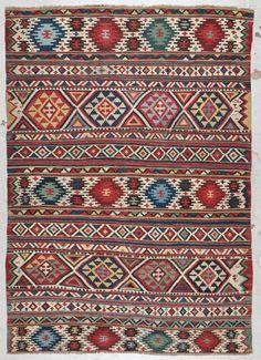 Antique Shirvan Kilim: 5'6'' x 7'9'' (168 x 236 cm) : Lot 0074