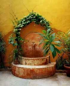Fountains on pinterest mexican garden courtyards and - Spanish style water fountains ...