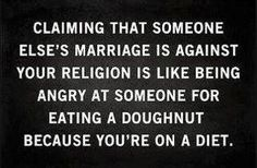 marriage...religion...doughnuts...diets