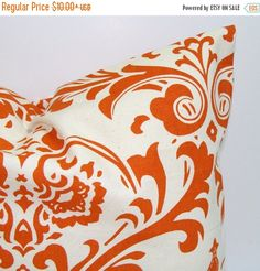PILLOW SALE HOME Decor.Pillow Covers.Pillow. Orange Damask.Pillows.Popular Pillow.Pillows.Cushions.Home Decor.Home Decor.Burnt Orange. Shams