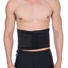 eccc875eb08 Healthcom Men s Sports Belt Lumbar Lower Back Support Brace Exercise Belly  Body Shaper Slimming Tummy for Lose Weight Belt(Size S M)