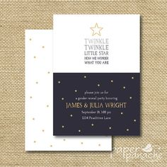 Twinkle Little Star Gender Reveal Party by PaperPanacheDesigns, $12.00