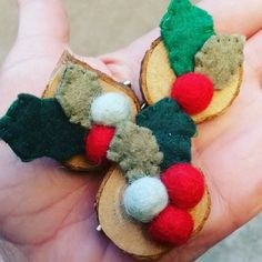 Christmas brooches.