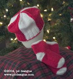 Charity Pattern - Knitted Peppermint Twist Hat