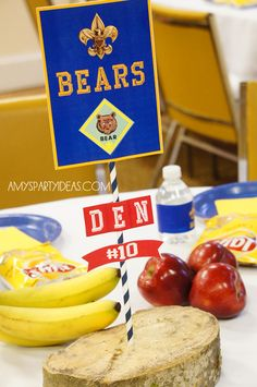 Cub Scout Blue & Gold Ceremony Party Ideas with Printables