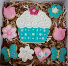 Birthday party sugar cookies decorated by SweetArtSugarCookies $10