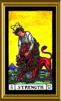 Strength Online Tarot, Major Arcana, Oracle Cards, Tarot Decks, Tarot Cards, Witchcraft, Strength, Symbols, Christian