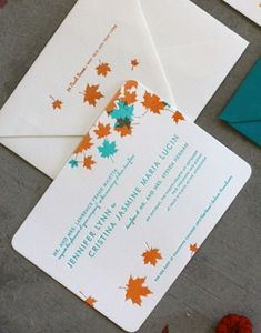 46 Stylish And Elegant Fall Wedding Invitations | Weddingomania