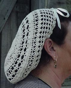 Civil War era reproduction crochet snood