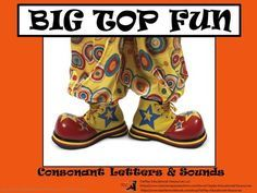 Big Top Fun: Consonant Letters and Sounds Presentation or Printable Word Wall from TiePlay Educational Resources LLC on TeachersNotebook.com -  (46 pages)  -  In Big Top Fun: Consonant Letters and Sounds, your students imagine being at the circus. Learners see consonant letters and sounds matched with a carousel, Ferris Wheel, and vendors.