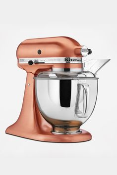 Loving this copper KitchenAid mixer https://www.zola.com/product_look_key/kitchenaid_metallicseries_satincopper?pkey=weddingchicks1