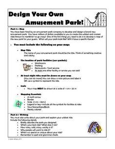 DESIGN YOUR OWN AMUSEMENT PARK (MAPPING SKILLS) - TeachersPayTeachers.com