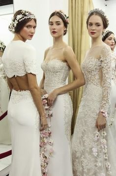 the cinderella project: because every girl deserves a happily ever after: Backstage at Reem Acra Fall 2015 Bridal Collection