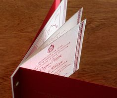 wedding invitation booklet with grommets ganesh & map