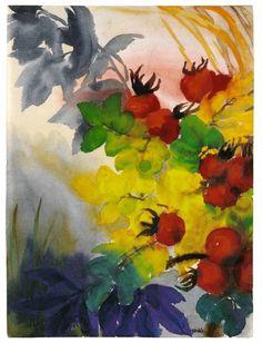Reife Hagebutten, by Emil Nolde