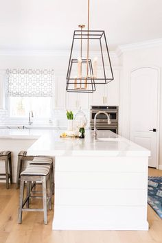 Castello Kitchen - Contemporary - Kitchen - San Diego - by Savvy Interiors L Shaped Kitchen, Condo Kitchen, Kitchen Remodel, Kitchen Reno, Shiplap Trim, White Shiplap, Shiplap Boards, Modern Kitchen Island, Kitchen Contemporary