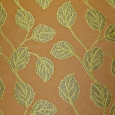 Best Buy! Embroidered Applique Look Woven Multi-Purpose Designer Decorating Fabric in Rich Earthtones