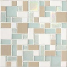 Daltile Coastal Keystones Trade Wind Random Joint 12 in. x 12 in. x 6 mm Glass Mosaic Floor and Wall Tile-CK86BLRANDPM1P at The Home Depot