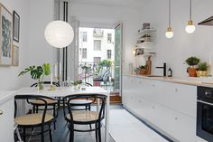 my scandinavian home: Could you spend new year here? Ikea Kitchen, Kitchen Interior, Kitchen Decor, Kitchen Seating, Kitchen Layout, Kitchen Dining, H Design, House Design, Small Apartments