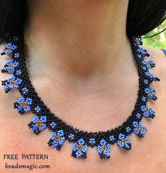 Free pattern for necklace Iris - Frauen Schmuck Beading Patterns Free, Beaded Jewelry Patterns, Bracelet Patterns, Free Pattern, Weaving Patterns, Bead Patterns, Color Patterns, Embroidery Patterns, Mosaic Patterns