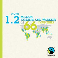 Fairtrade make a difference for more than 1,2 million farmers and workers in developing countries.