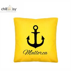 Chill, Outdoor, Majorca, Yellow, Pillows, Black, Outdoors, Outdoor Games, The Great Outdoors