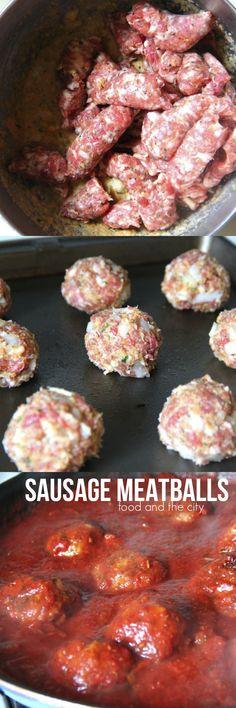 Sausage Meatballs like ma' used to make!   Food and the City