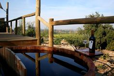 Camp #Colchagua - Hot tub and a bottle of wine