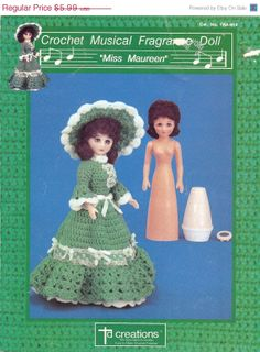 ON SALE 15 DISCOUNT Vintage Crocheted Dolls 1990 by NookCove, $4.50