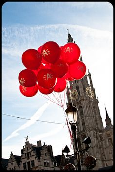 Red Balloons in Antwerp