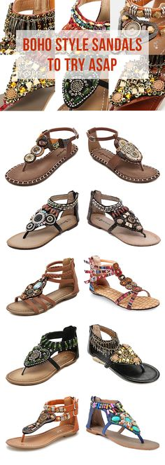 【UP TO 48% OFF】 Bohemian Style Flat Sandals For Women To Try This Summer