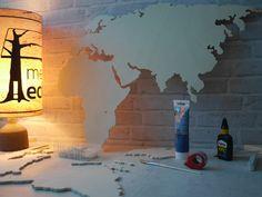 Superb Kontinente und L nder XL Weltkarte DIY