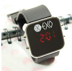 Kpop EXO fashion LED watch