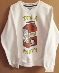 Chocolate Milk Party Crewneck Sweatshirt © Design by MXLoutfitters