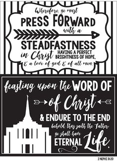 2016 LDS mutual theme: Press forward with a steadfastness in Christ.