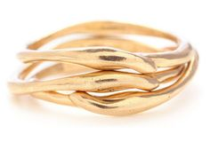 10K Gold Seagrass Stack Ring by Emily Amey
