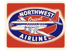Northwest Orient Airlines (Luggage Label) by Artist Unknown ...