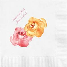 Autumn Weddings And Party Ideas Personalized Napkins Pumpkin Colored Supersoft Three Ply Are Available In Luncheon Tail