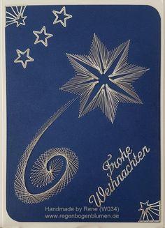 Fadengrafik Grußkarte W002 Weihnachten  Fadengrafik - GrußKarten - Set mit dem…