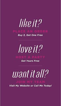 Don't forget about my Two for Tuesday special gift with every Buy 3 Get 1 Free…