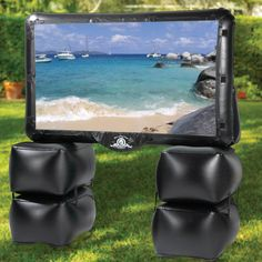 The Outdoor Inflatable Theater - Hammacher Schlemmer